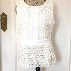 DVF Lace Shell Tank size 14 NWT